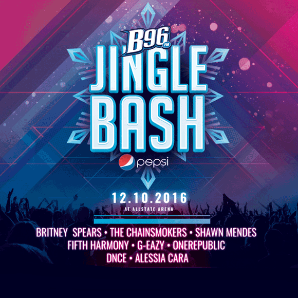 B96 Pepsi Jingle Bash: Britney Spears, Shawn Mendes, Fifth Harmony, The Chainsmokers, G-Eazy, OneRepublic, DNCE & Alessia Cara at Allstate Arena