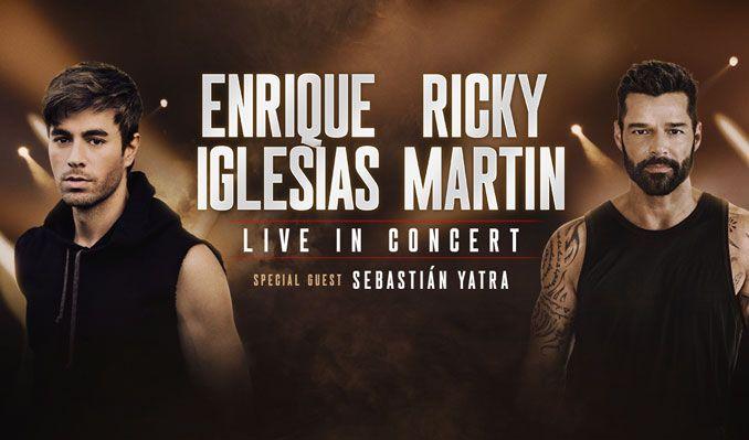 Enrique Iglesias & Ricky Martin at Allstate Arena